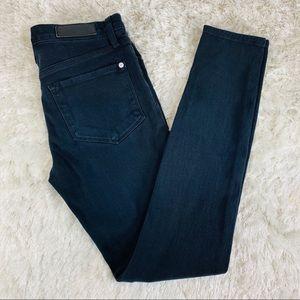 Baldwin Stretch Jeans Sz 29 Black Blue Color
